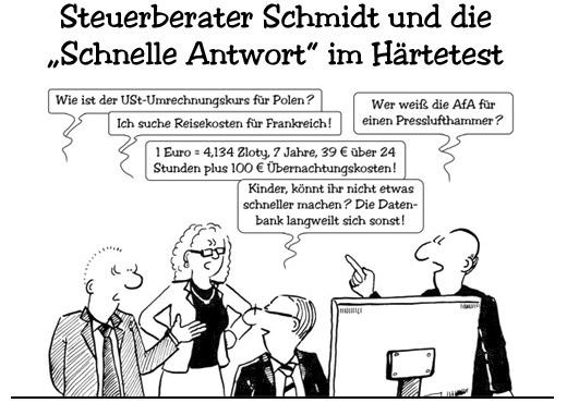 Steuerberater Schmidt und die Schnelle Antwort im Härtetest